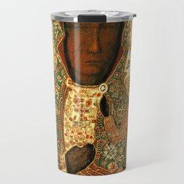 Virgin Mary Our Lady of Czestochowa Black Madonna and Child Jesus religious art Poland Travel Mug