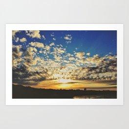 CA Sunset Art Print