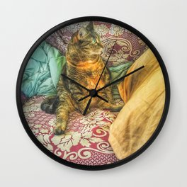 Sitting Pretty Wall Clock