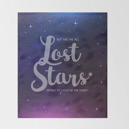Lost Stars Throw Blanket