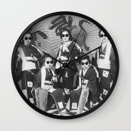 Lady Samurai Wall Clock