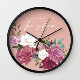 She is Fierce (Pink) Wall Clock
