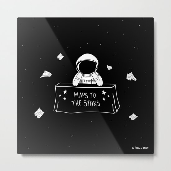 Selling Maps to the Stars Metal Print