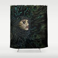 ariana grande Shower Curtains featuring The Grande Dame by Spoken in Red