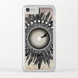 Crow Twilight Dreamcatcher Clear iPhone Case