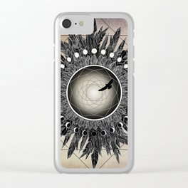 Crow Twilight Dreamcatcher Clear iPhone Case