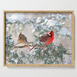Remembering.... (Northern Cardinals) Serving Tray