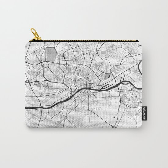 Frankfurt City Map Gray Carry-All Pouch