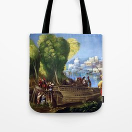 Dosso Dossi Aeneas and Achates on the Libyan Coast Tote Bag