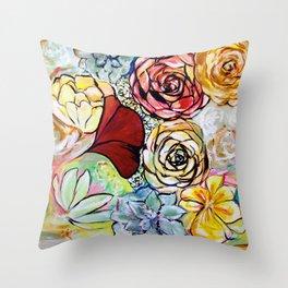 Southern California Garden Throw Pillow