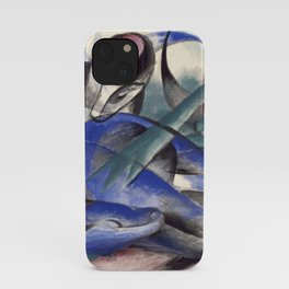 """""""The Dreaming Horses"""" by Franz Marc, 1913 iPhone Case"""