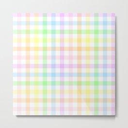 Rainbow Gingham Metal Print