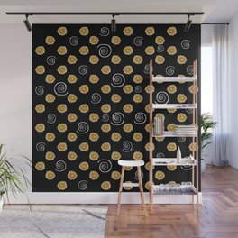 Spiral and yellow flowers Wall Mural