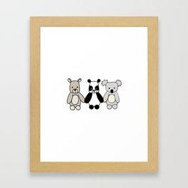 Bear Friends Framed Art Print