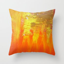Aflood with gold and rose Throw Pillow