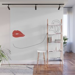 Red lip Wall Mural
