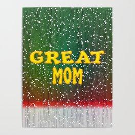 Great Mom Christmas Poster