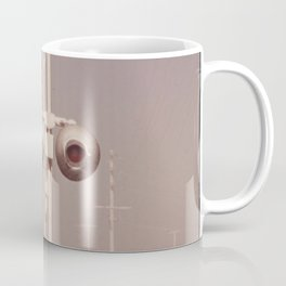 White dust on railroad crossing Coffee Mug