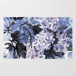 Ultra Violet Floral Rug