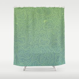 Amebas Shower Curtain