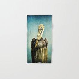 Brown Pelican Art Hand & Bath Towel
