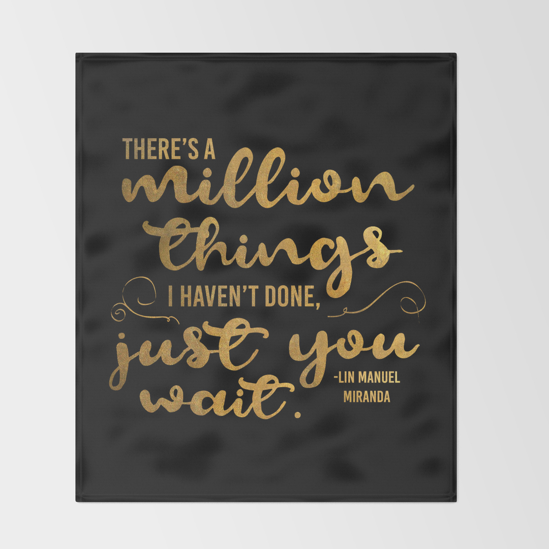 Throwing In The Towel Quotes Blackwhite And Hamilton Throw Blankets  Society6