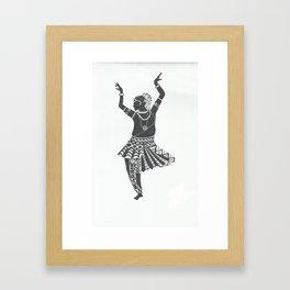 indian girl dancing Framed Art Print