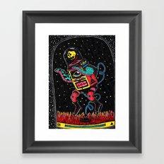 lo de adentro Framed Art Print