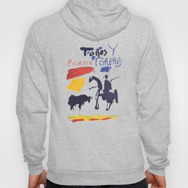 Toros Y Toreros (Bulls and Bullfighters) Artwork By Pablo Picasso T Shirt, Book Cover Hoody