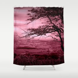 Rosy Evening Shower Curtain