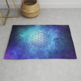 Deep Space Sacred Geomery Rug