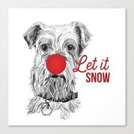 Let it Snow Dog Canvas Print