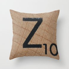 Tile Z Throw Pillow