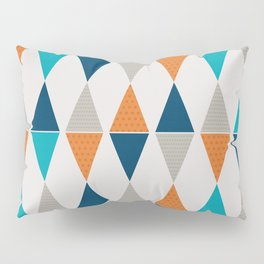 Colorful Triangle Pairs Pillow Sham