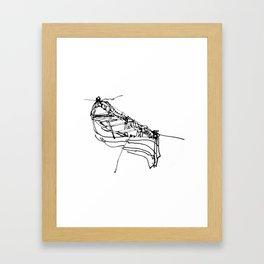 BOSPHORUS BOAT Framed Art Print