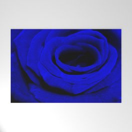 Expansion Blue rose flower Welcome Mat