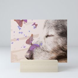 Day Dreaming - Old Dog's Nap - #society6 #buyart Mini Art Print