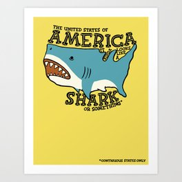America…   it kinda looks like a shark or something Art Print