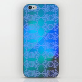 Pattern by spider web blue ... iPhone Skin