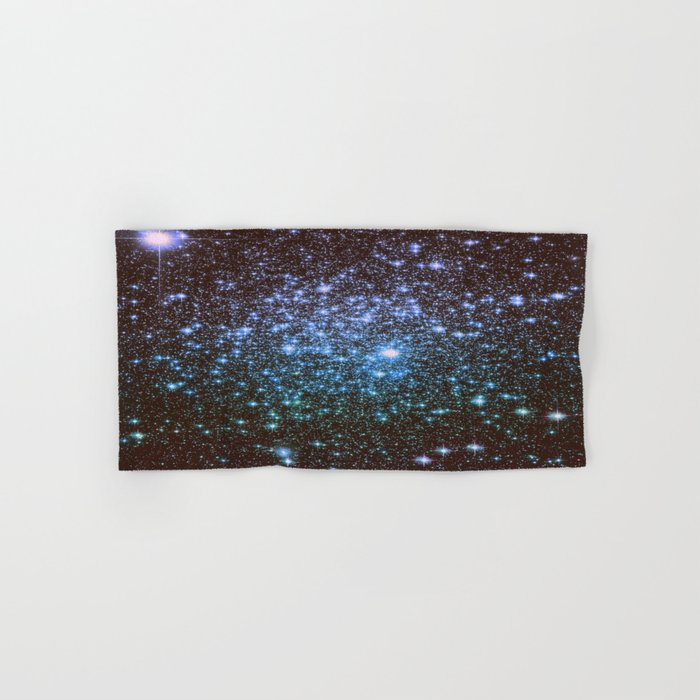 Winter Blues Galaxy Stars Hand & Bath Towel