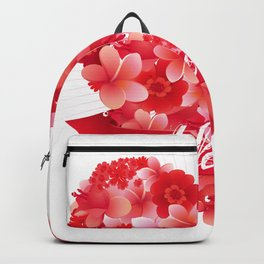 Blooming heart Backpack