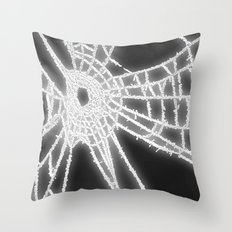 Surrealistic Spider Web Throw Pillow