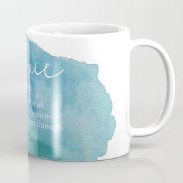 Moxie Definition - Blue Watercolor Coffee Mug