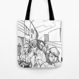 People in Middling City Tote Bag
