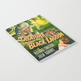 Creature from the Black Lagoon, vintage horror movie poster Notebook