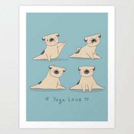 YOGA LOVE Art Print