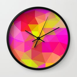 Citrus Candy Low Poly Wall Clock