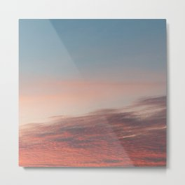 Dappled Peach Skies Metal Print