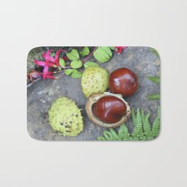 Conkers -horse chestnuts Bath Mat