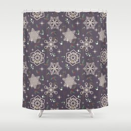 Xmas In The City Shower Curtain